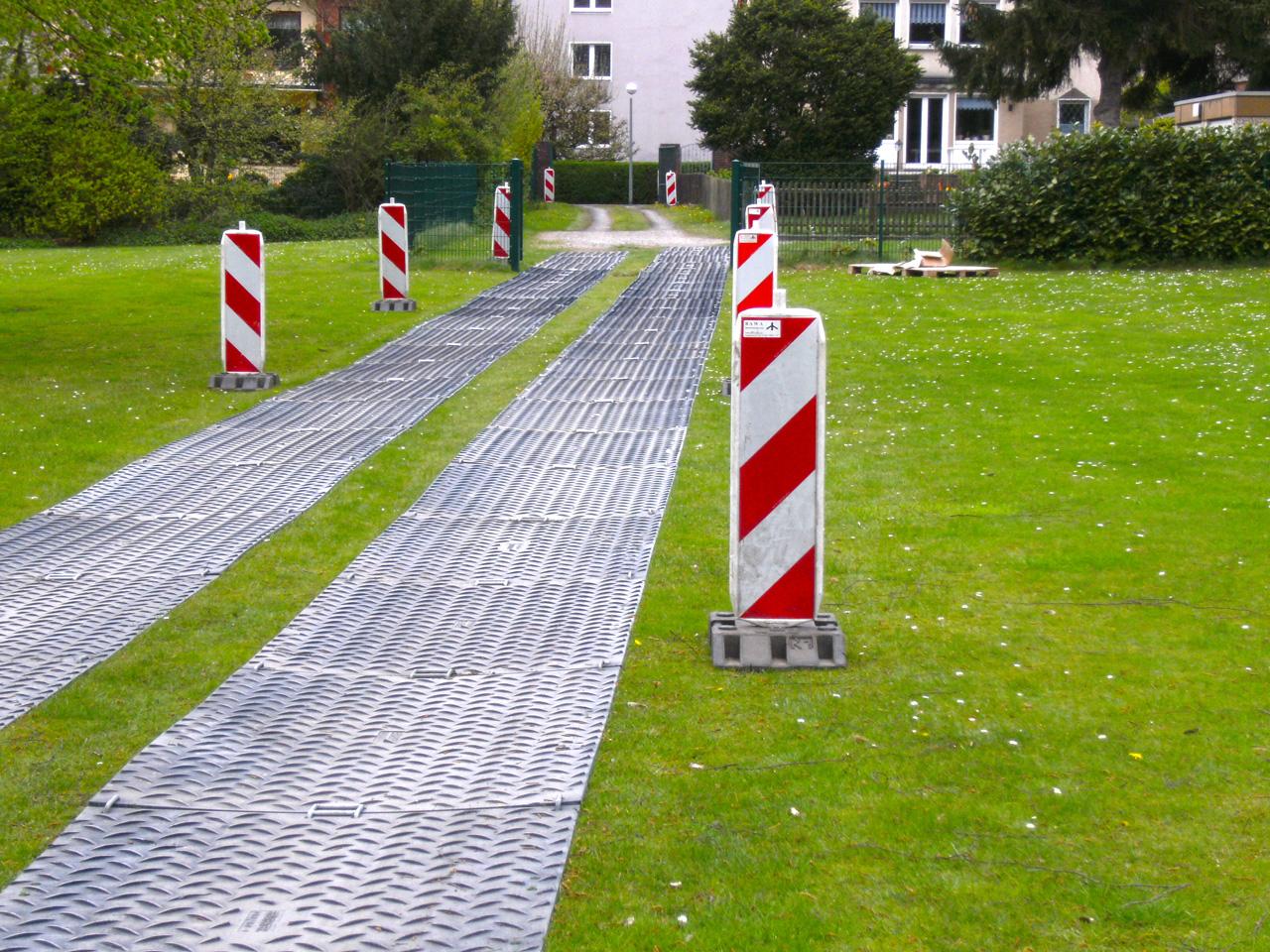 Baustraße-Bodenschutz